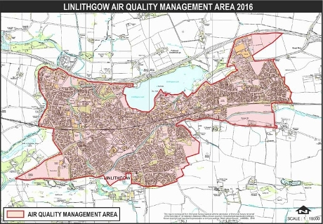 Air Quality Map - Linlithgow