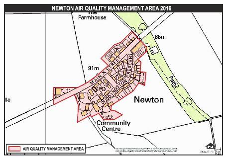 2016 Newton AQMA Map