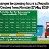 An image relating to Reduction in opening hours at Recycling Centres