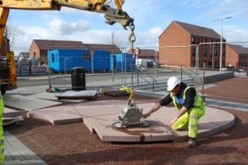 Installation of new public art for Winchburgh starts