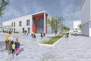 Draft impression of the new school at Calderwood