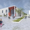 An image relating to Draft impression of the new school at Calderwood