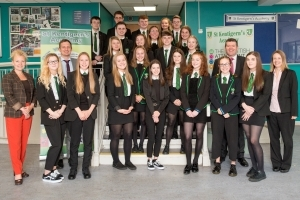 Pupil and staff from St Kent's celebrate their exam success