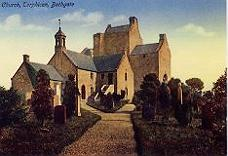 Church and preceptory, colour image, 1900s