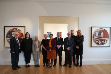Canadian Consul visits West Lothian Icon