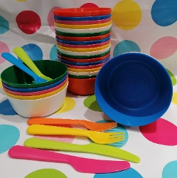 Party Kit - Plates, Bowls, Cutlery Set