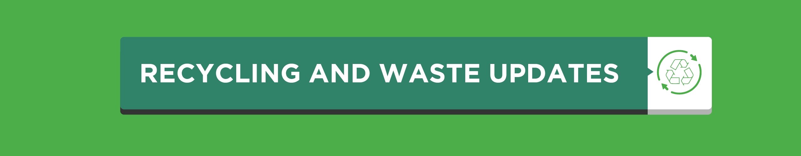 Recycling And Waste Covid Banner