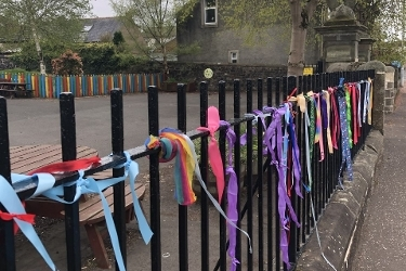 Colourful show of support for school staff Icon