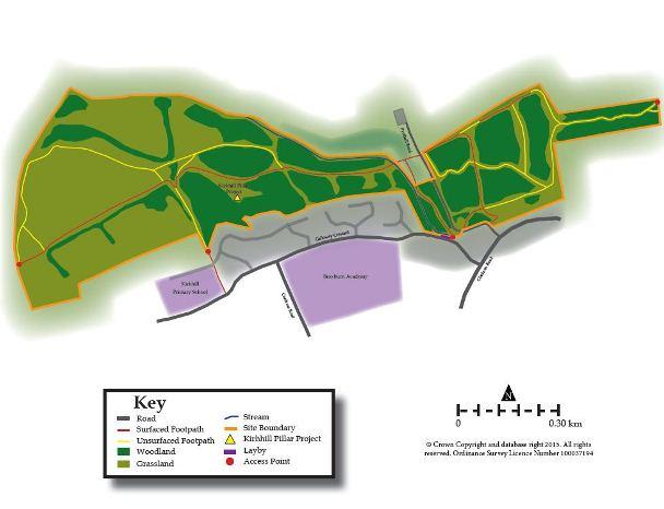 Broxburn Community Woodland map