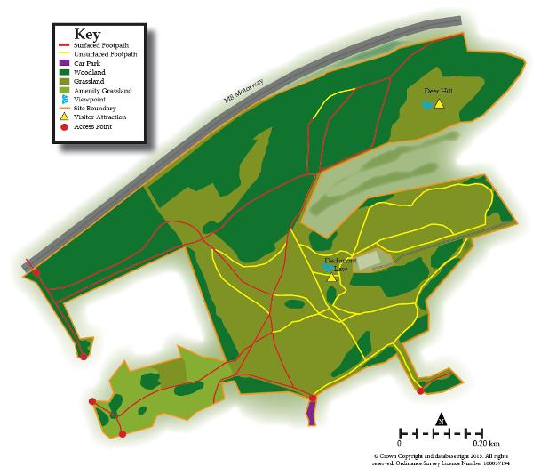 Dechmont Law map
