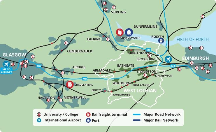 West Lothian Map