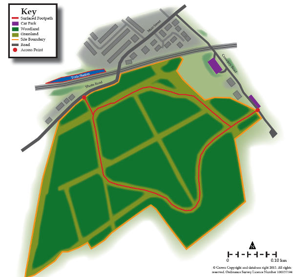 Knowes Colliery Woodland map
